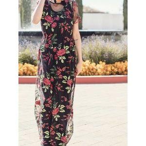 Lularoe XS deanne II sheer floral dress